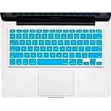 "Kuzy - AQUA BLUE Keyboard Cover Silicone Skin for MacBook Pro 13"" 15"" 17"" (with or w/out Retina Display) iMac and MacBook Air 13"" - Aqua Blue"