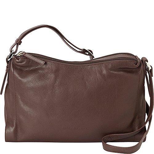 Derek Alexander Double Top Zip Shoulder Bag (Brown) Double Top Zip Shoulder Bag
