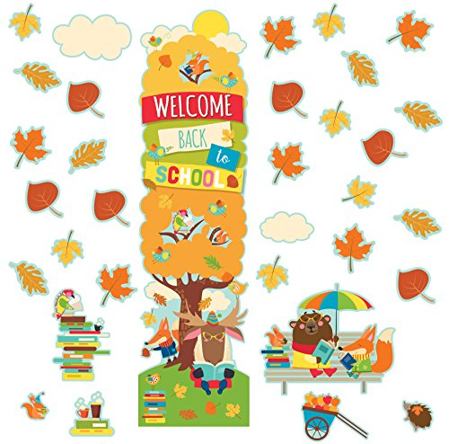 EUREKA Fall Back to School Classroom and Door Décor Kit, 33pc]()