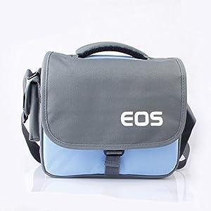 pangshi Camera Bag Case F Canon Rebel T5i T4i T3i T2i EOS 700D 650D 600D 550D DSLR Blue