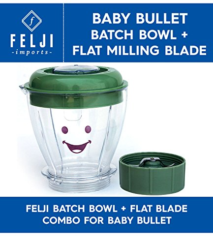 Felji Batch Bowl Flat Blade Combo for Baby Bullet