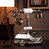 Antique european landline telephone,Retro creative vintage classic desk phone with push button technology home -A 2526cm