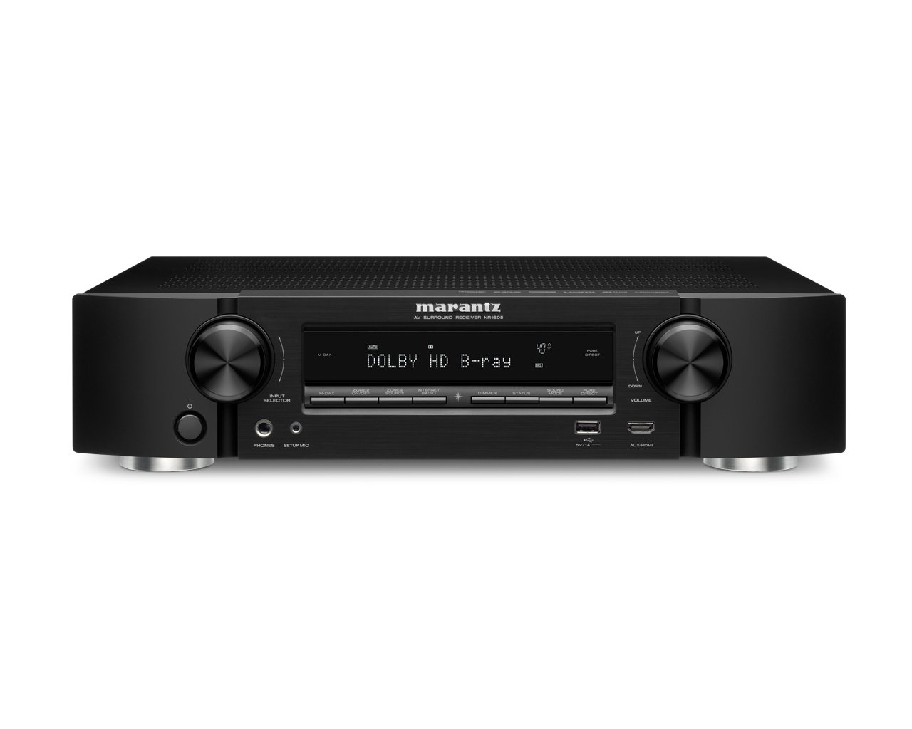 Amazon.com: Marantz NR1605 7.1 Slim Line 4K Ultra HD A/V Receiver with  Wi-Fi and Bluetooth (Discontinued by Manufacturer): Home Audio & Theater