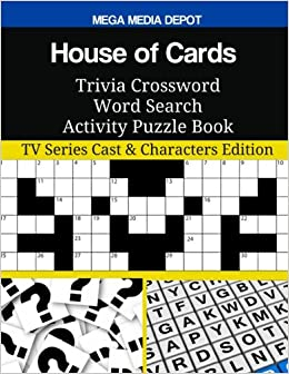 Amazon com: House of Cards Trivia Crossword Word Search Activity
