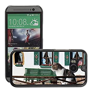 GoGoMobile Slim Protector Hard Shell Cover Case // M00124299 Pet Cat Cat Home Cozy Sitting Home // HTC One M8
