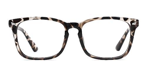 TIJN Blue Light Blocking Glasses Square Nerd Eyeglasses Frame Anti Blue Ray Computer Game Glasses best women's blue-light-blocking glasses
