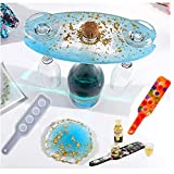 Amldoreat 4 Pcs Resin Shot Glass Mold,Resin Wine Holder Molds,4 Holes Butler Bottle Rack Mold for Beer Whiskey Tasting Paddle Serving Tray with 2 Coaster Mold for Home Decor DIY Handmade Crafts