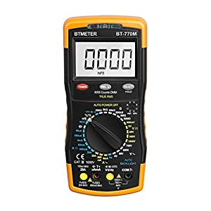 Multimeter BTMETER BT-770M Manual Range Digital Avometer Universal Meter 6000 Counts With Self-Locking Protection , NCV, Diode , AC & DC Voltage, AC & DC Current, Resistance, Capacitance
