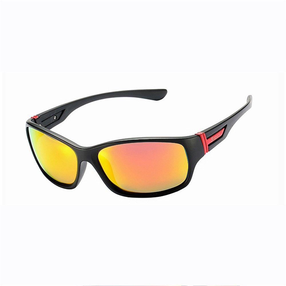 e336a8e854 Douerye Gafas De Sol Polarized Riding Gafas De Sol Deportivas para Hombre  New Classic Europe and America Gafas De Sol Red Net,Orange: Amazon.es:  Deportes y ...