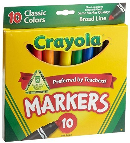 Crayola Original Markers Classic Colors Non-Toxic Markers