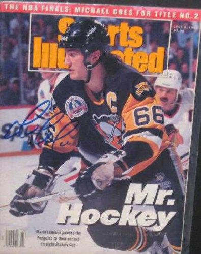 Autograph Warehouse 73926 Mario Lemieux Autographed Sports Illustrated Magazine Pittsburgh Penguins Jsa ()