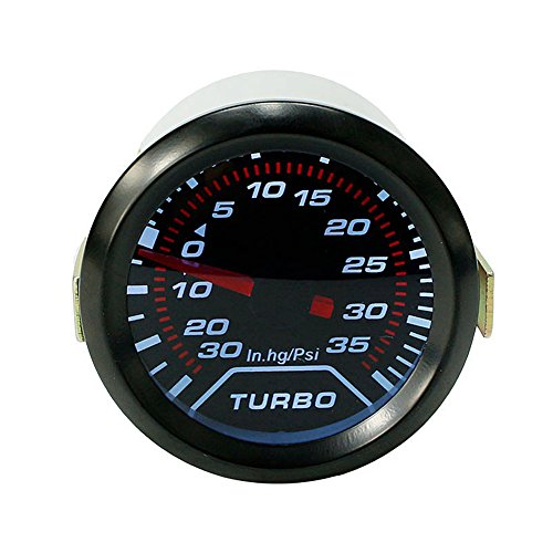 Auto Universal Turbo Boost Gauge Set 0-30in.Hg/0-35PSI Digital Pointer Display 2