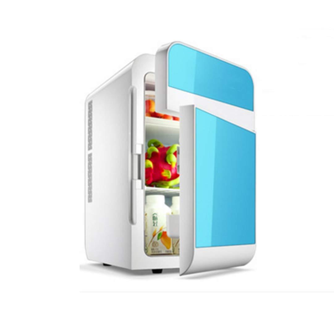 Mitrc Mini Refrigerator for Car Refrigerator 20L Auto Freezer Portable Refrigeration Fast Household Double Core LED Refrigerator,Blue