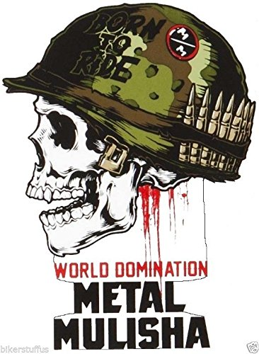 Metal Mulisha World Domination Born to Ride Bumper Sticker Laptop Sticker