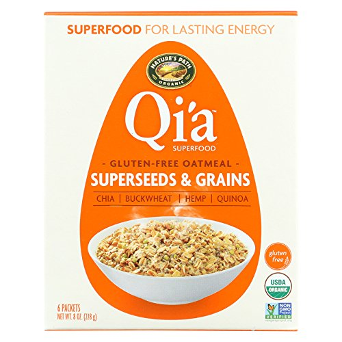 (Nature's Path Organic Qi'A Superfood Hot Oatmeal - Superseeds and Grains - Case of 6 - 8 oz.)