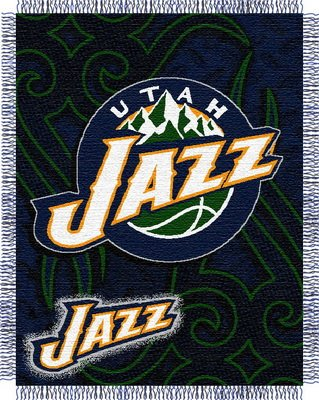 NBA Triple Woven Jacquard Throw NBA Team: Utah Jazz Bulldogs Triple Woven Throw