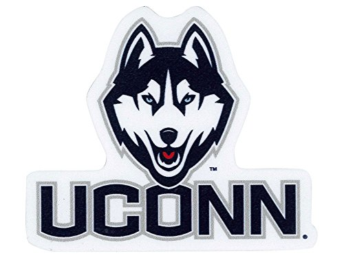 Official NCAA 4 inch x 4 inch Die Cut Car Decal by Wincraft 528414 (Ncaa Connecticut Uconn Huskies)