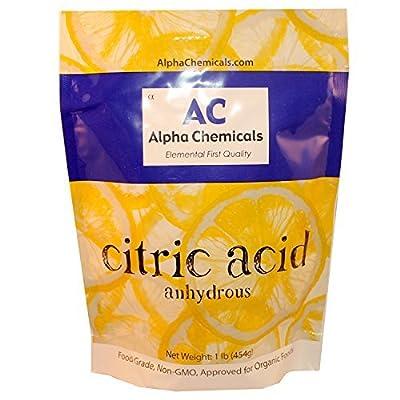 Citric Acid - 1 Pound - Food Grade , Non-GMO, Organic, 100% Pure