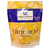 Alpha Chemicals Brand Citric Acid is 100% Pure. It is approved for use in Organic Foods and is GMO-free. From Alpha Chemicals, you will receive 1 lb foil bag that is sealed for safety and freshness. It includes a tear-off tab for easy opening...