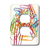 3dRose LLC lsp_18630_6 Colorful Office Supplies 2-Plug Outlet Cover