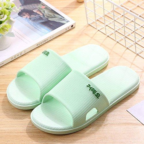 Shoe Supermarché Pour Qsy Vert Porte Et D'été Pantoufles Les Couple Femmes Hommes 4qdZw6q