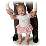 The Ashton - Drake Galleries Isabella's First Steps Walks with Your Help! - So Truly Real Lifelike, Interactive & Realistic Baby Doll 26-inches