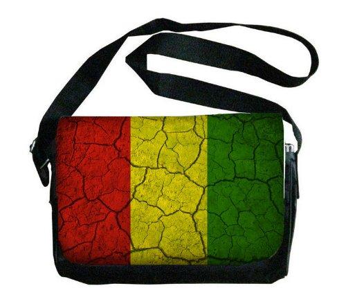 Guinea Flag Crackled Design Messenger Bag
