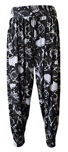 Pantaloni Donna Crazy Print Girls Skull amp;Rose fqxSa7vw