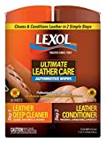 Lexol 90150 Leather Deep Cleaner & Conditioner Dual Canister Wipes, 40-Sheets