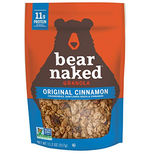 (Bear Naked Original Cinnamon Granola - Non-GMO | Kosher | Vegetarian Friendly - 11.2 Oz)