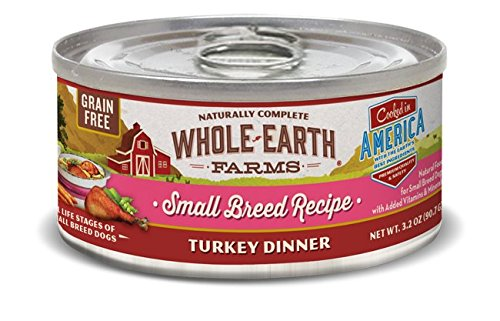 Whole Earth Farms Grain Free Recipe Turkey Small Breed Canned