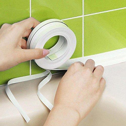 - DZT1968 3.2m Wall Sealing Tape self-adhesive Waterproof Mold Proof Adhesive Tape Kitchen Bathroom