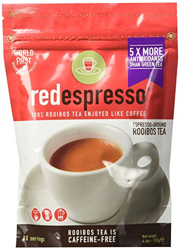 red espresso Ground Rooibos Tea, 125g Pouches (4.4 oz) (Pack of 2) Review