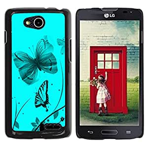Graphic4You Blue Butterfly Butterflies Flying Floral Flower Design Thin Slim Rigid Hard Case Cover for LG Optimus L90 Dual