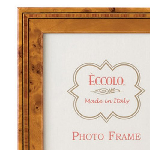 Eccolo Burl With Etching Wood Frame, 4 by 6-Inch