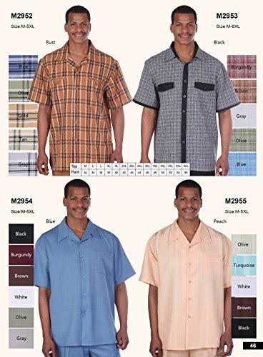 Milano Moda Men's Premier Cotton Fabric Shirt-Pant Sets HLM2954 New York Brand