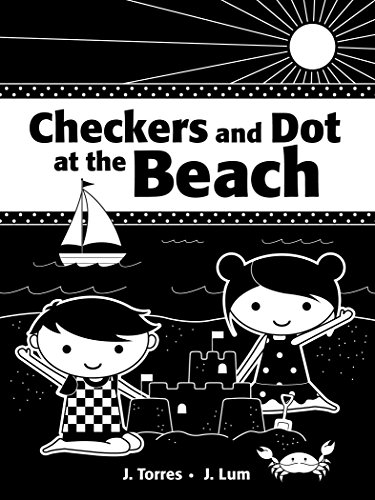 Checkers and Dot at the Beach - Beach Dot