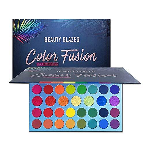 Beauty Glazed Hochpigmentiertes Make-up Palette Leicht zu mischen Color Fusion 39 Shades Metallic- und Shimmers-Lidschatten Schweißfeste und wasserdichte Lidschatten