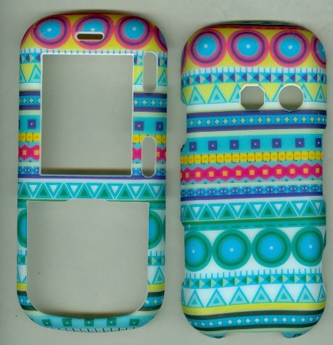 Turquoise Tribal Designer Dot Lg Cosmos Vn250 Rumor 2 Lx265 (Sprint Verizon) Faceplate Rubberized Snap-on Hard Case Cover Protector (Lg Cosmos Vn250 Case compare prices)