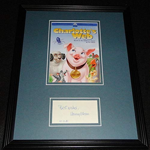 Henry Gibson Signed Framed 11x14 Photo Display Charlotte's Web