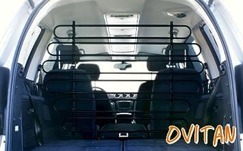 Ovitan Hundegitter Fürs Auto 12 Streben Universal Zur Befestigung An Den Kopfstützen Der Vordersitze Für Alle Automarken Geeignet Modell V12 Haustier