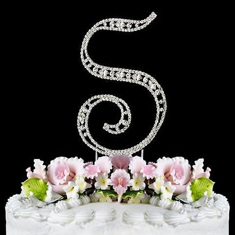 Vintage ~ Swarovski Crystal Wedding Cake Topper ~ Letter S - Swarovski Crystal Wedding Cake