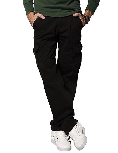 ff8024f1ac Match Men's Retro Cargo Pants (Label size 3XL/38 (US 36), 6516 Black ...
