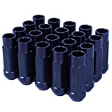 Godspeed New Type 3-X BLACK 12mm x 1.25 Thread Size Cold Forged SCM-435 Steel Black Finish Open End Lug Nut, (pack of 20) by Godspeed