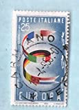 Used Italy Postage Stamp %281957%29 25L