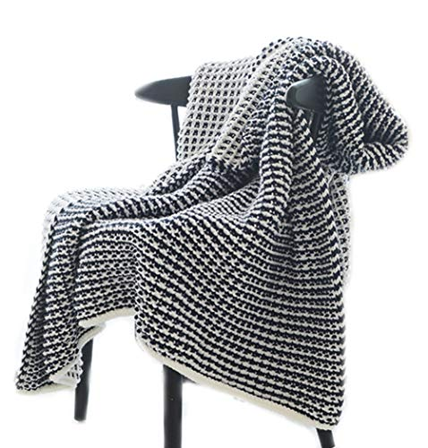 HugeHug Premium Cashmere Wool-Like Waffle Weave Link Throw Blanket Soft Cozy Lightweight Easy Care Comfortable Breathable for All Season Bed Sofa Couch Perfect Home Decor 51
