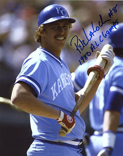 - PETE LACOCK KANSAS CITY ROYALS 1980 A.L CHAMPS SIGNED 8X10 PHOTO