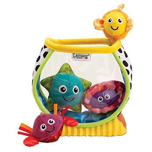 - LAMAZE - My First Fishbowl Toy, Capture Baby's Curiosity with Sea Creatures to Rattle, Squeak and Collect with Colorful Patterns, Interesting Textures and Unique Sounds, 6 Months and Older