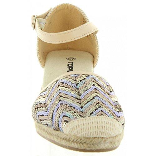 Zapatos de cuña de Mujer URBAN B732481-B7200 BEIGE