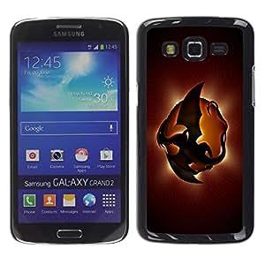 Caucho caso de Shell duro de la cubierta de accesorios de protección BY RAYDREAMMM - Samsung Galaxy Grand 2 SM-G7102 SM-G7105 - Dragon Planet